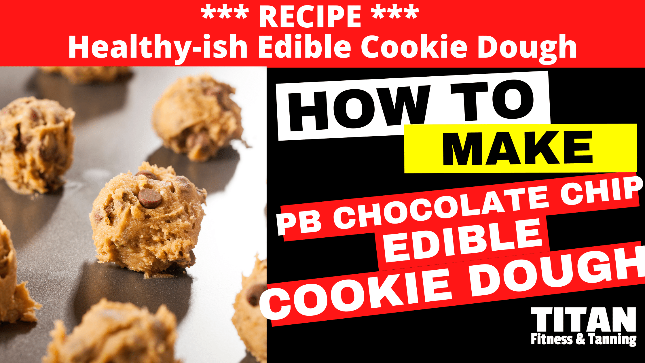 Healthy-ish Peanut Butter Chocolate Chip Edible Cookie Dough