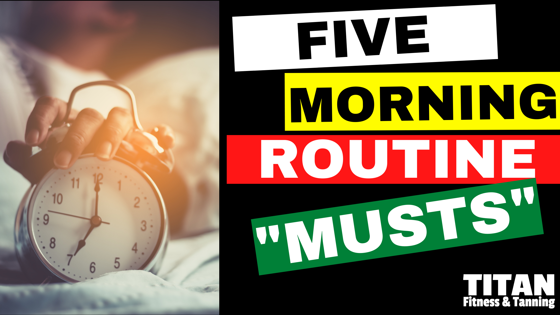 """5 Morning Routine """"Musts"""""""